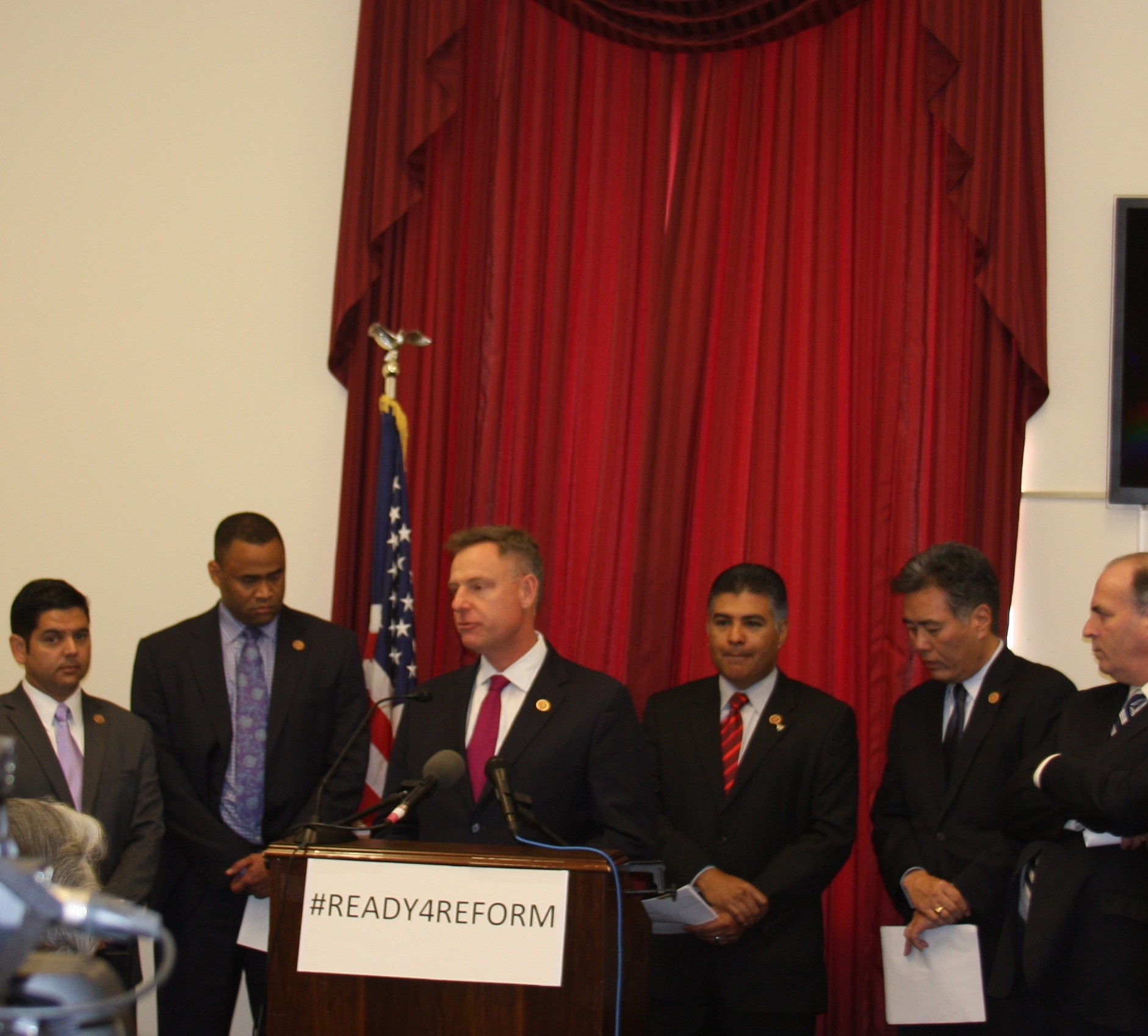 Scott at an Immigration Reform Press Conference