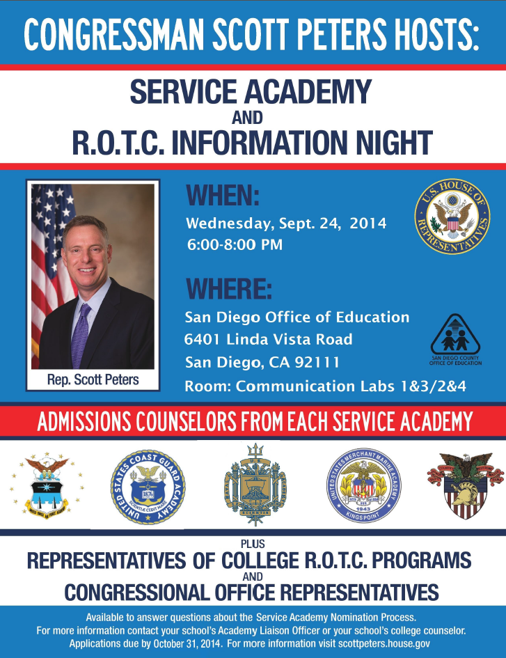 Service Academy Info Night
